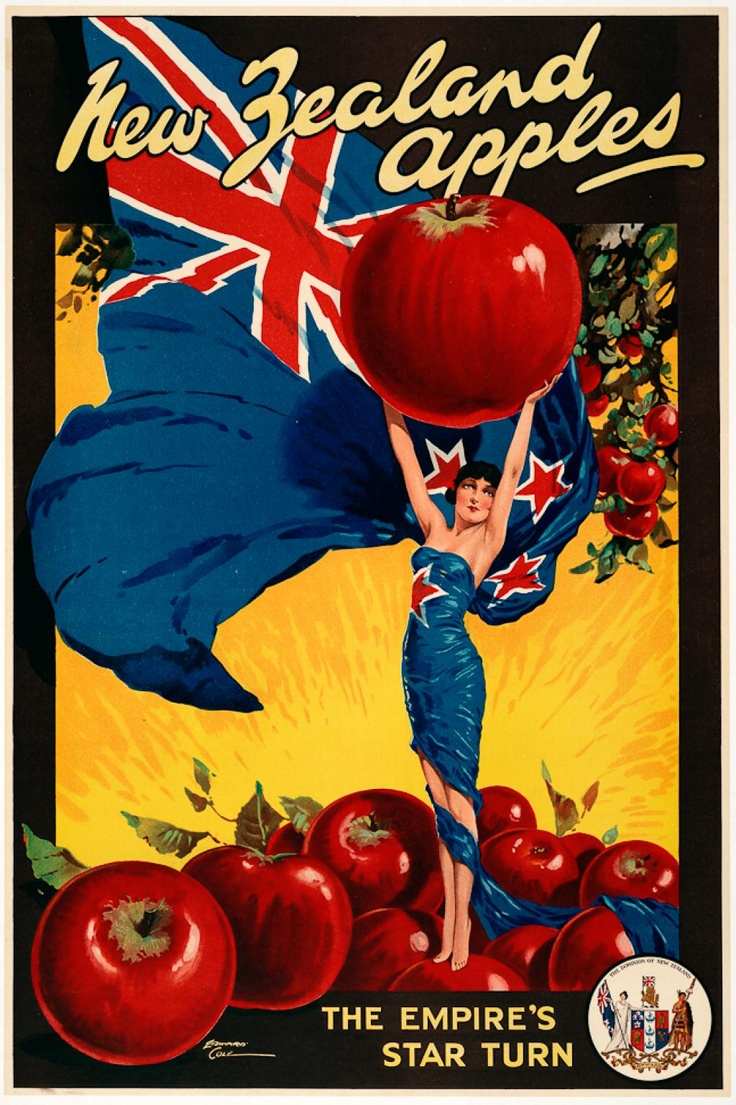 New Zealand Apples, by Edward Cole, ca. 1925-1935.