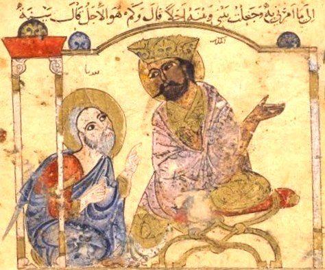Two Men Talking, an image from Kalila wa Dimna
