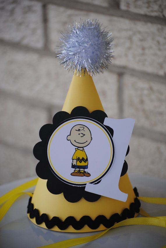 Charlie Brown Party Hat by mlf465 on Etsy