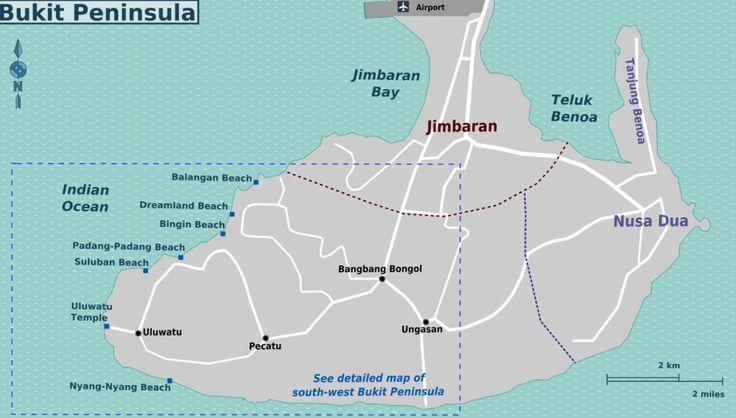 Bukit beaches map