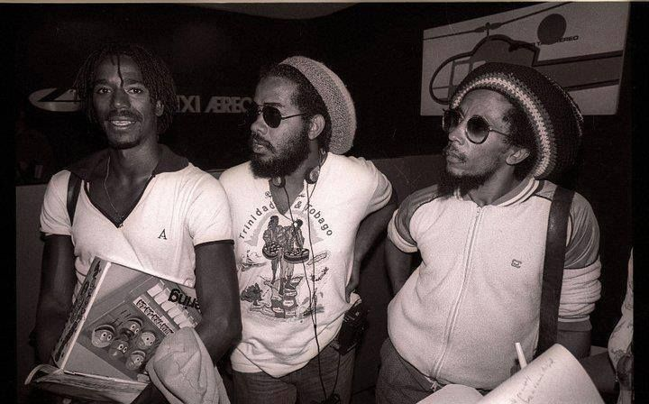 Junior Marvin, Jacob Miller & Bob Marley