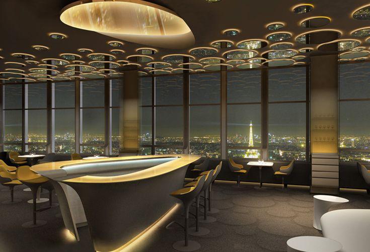 """Le nouveau restaurant """"Ciel de Paris"""", Tour Montparnasse, conçu par Noé Duchaufour-Lawrance"""