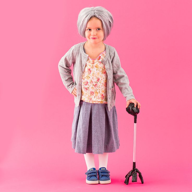 There's nothing funnier than dressing up a little kid as an old grandma.