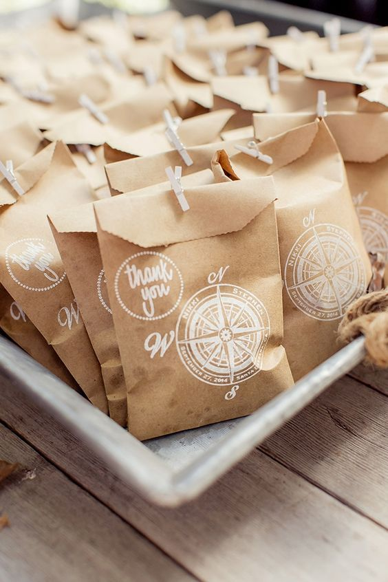 rustic travel themed favors / http://www.deerpearlflowers.com/travel-themed-wedding-ideas-youll-want-to-steal/2/