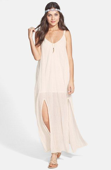 RVCA Double Strap Maxi Dress (Juniors) available at #Nordstrom