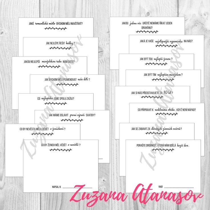 Otázky+-+svatební+zábava+pro+hosty+-+k+tisku+Svatební+zábava+pro+hosty+k+vlastnímu+vytištění.+PDF+obsahuje+kartičky+s+16+otázkami+pro+svatební+hosty.+Ideální+zábava+během+fotografování+novomanželů.+Kartičky+připravíte+na+stolek+spolu+s+tužkami+a+poprosíte+hosty,+aby+během+večera+odpověděli+na+vybrané+otázky.+Připravte+i+krabičku+/+košík+kam+mají+vložit...