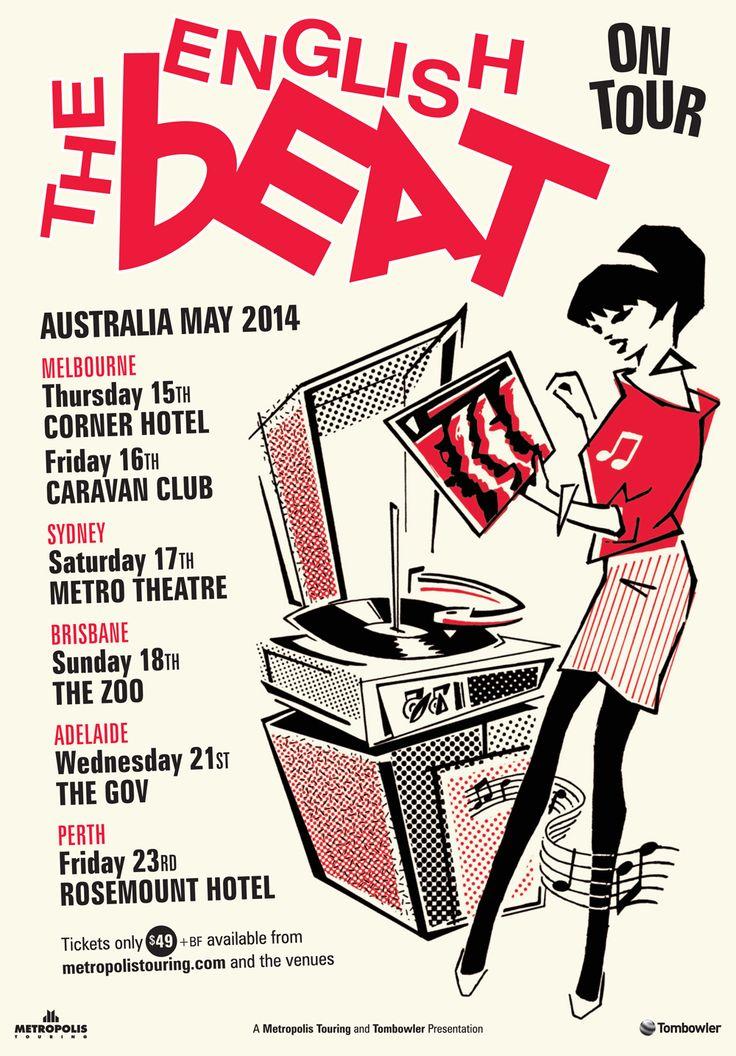 The English Beat Australian tour poster 2014