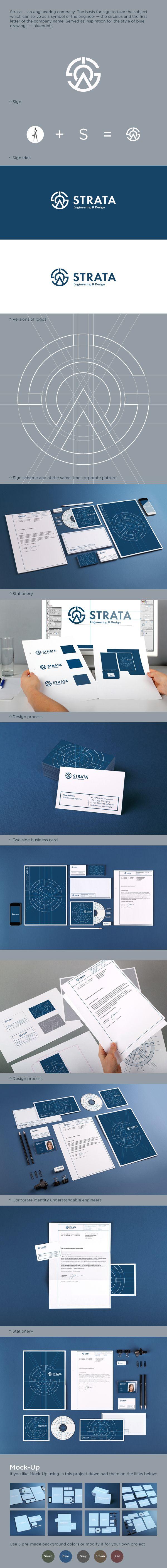 Strata. Logo & corporate identity on Branding Served