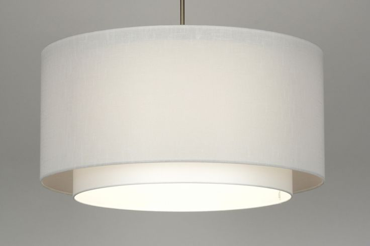 hanglamp 30138: modern, staal , rvs, stof