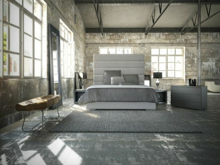 kleines schlafzimmer gestalten designhaus bett platform balkon wand tv