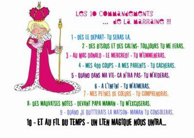 les dix commandement de la marraine