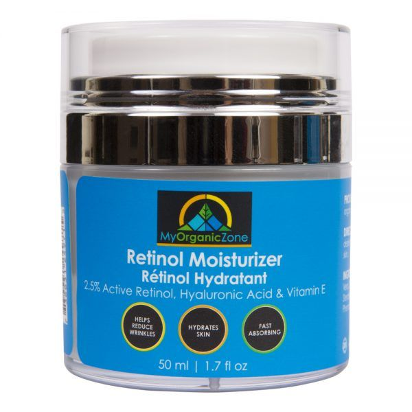 RETINOL MOISTURIZER CREAM: https://myorganiczone.com/product/retinol-moisturizer-cream/ Retinol Moisturizer Cream delivers strength and power to help you fight wrinkles, lines and discoloration but plays well with other ingredients to gently and calmly keep your skin healthy, hydrated and smooth. Retinol Moisturizer Cream has retinol and is intended to deliver daily moisture to your face while helping you stay away form unwanted acne, wrinkles, age spots or other marks