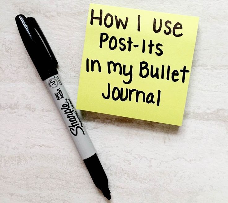 Using post-its in your bullet journal!