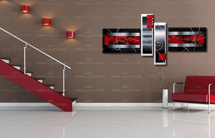Cuadro moderno abstracto en negro rojo y blanco http://www.moodartstudio.es/es/cuadros-abstractos/48-cuadro-moderno-abstracto-zoom-.html?search_query=zoom&results=1