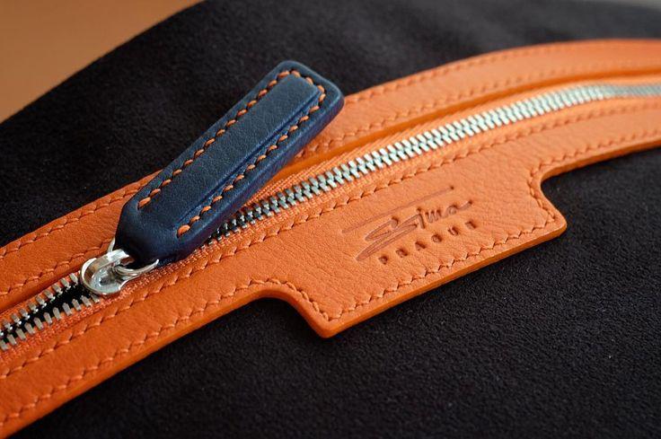 #lining .. Detail inside #bag #messengerbag #handsewn #handstitched #handmade