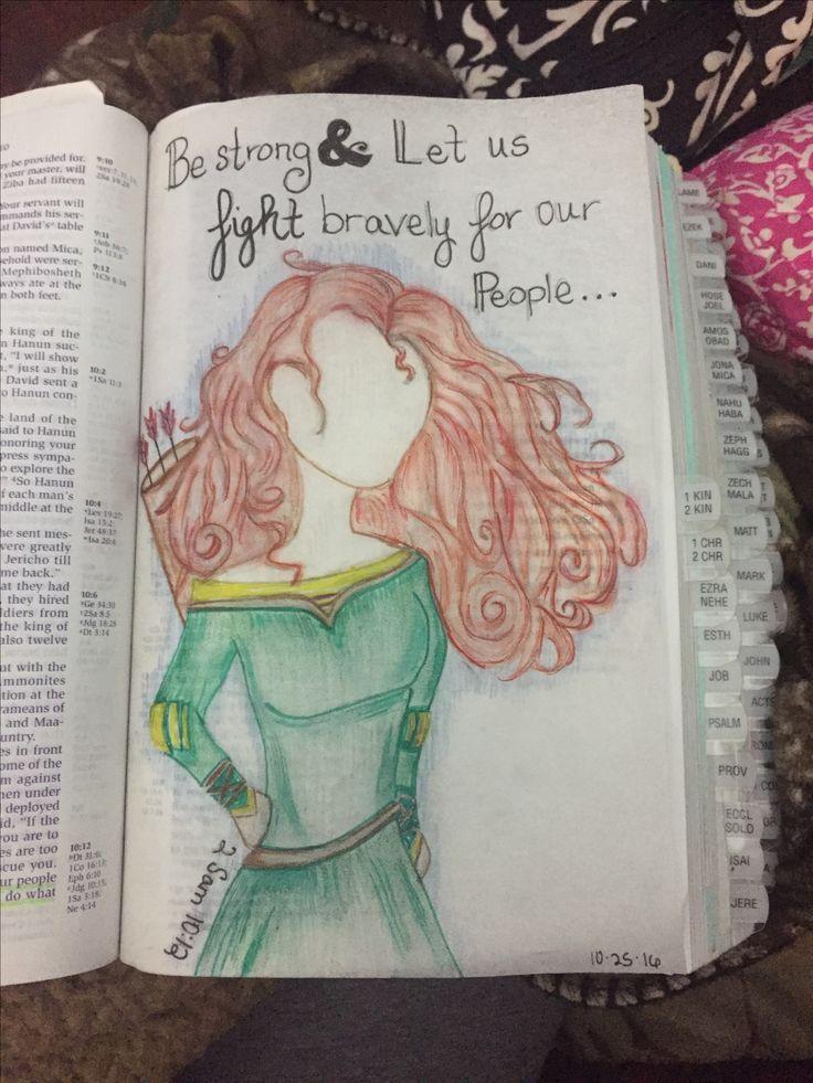 2 Samuel 10:12 Be Brave #disney #biblejournal #illistratedfaith