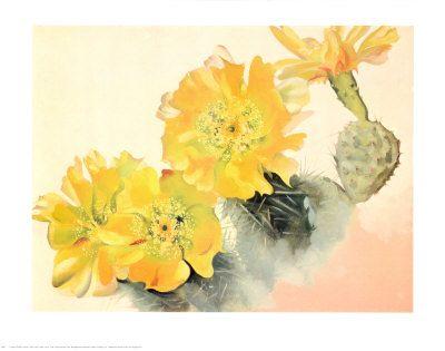 Yellow Cactus Print by Georgia O'Keeffe