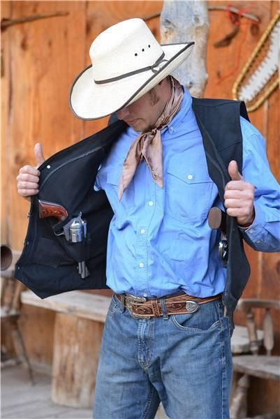 Texas Concealed Carry Canvas Vest by Wyoming Traders (sizes thru 3XL)