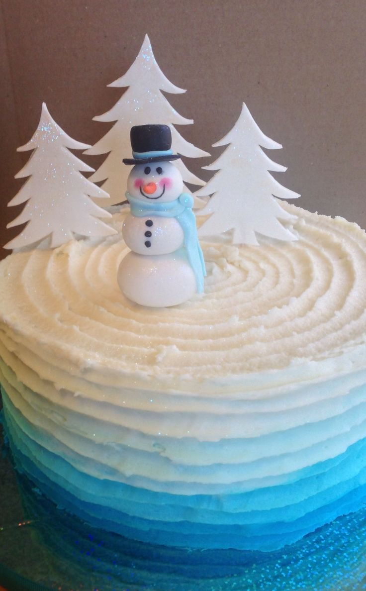 Christmas - Little snowman cake