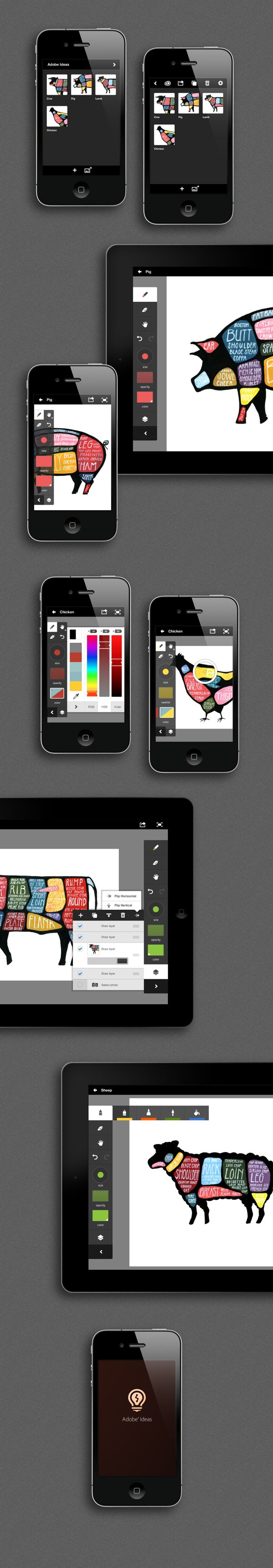 Adobe Ideas by Gabriel Campbell, via Behance