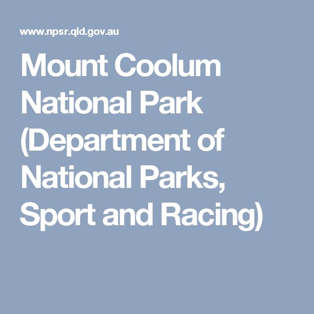 Mount Coolum National Park (Department of National Parks, Sport and Racing)