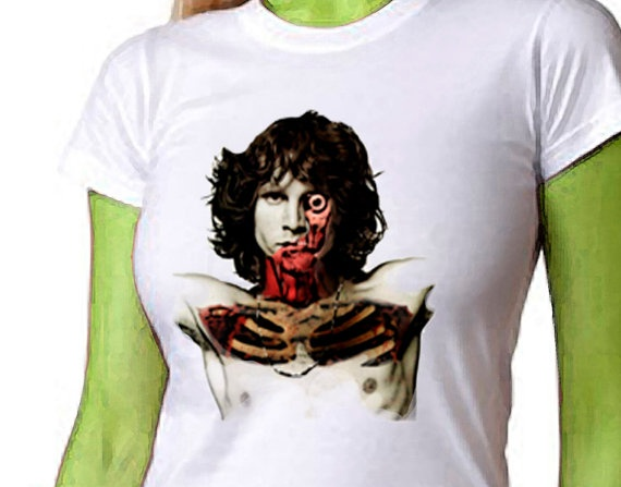 Womens T shirt  Zombie Jim Morrison Womens by ZombieFriedTees, $22.00