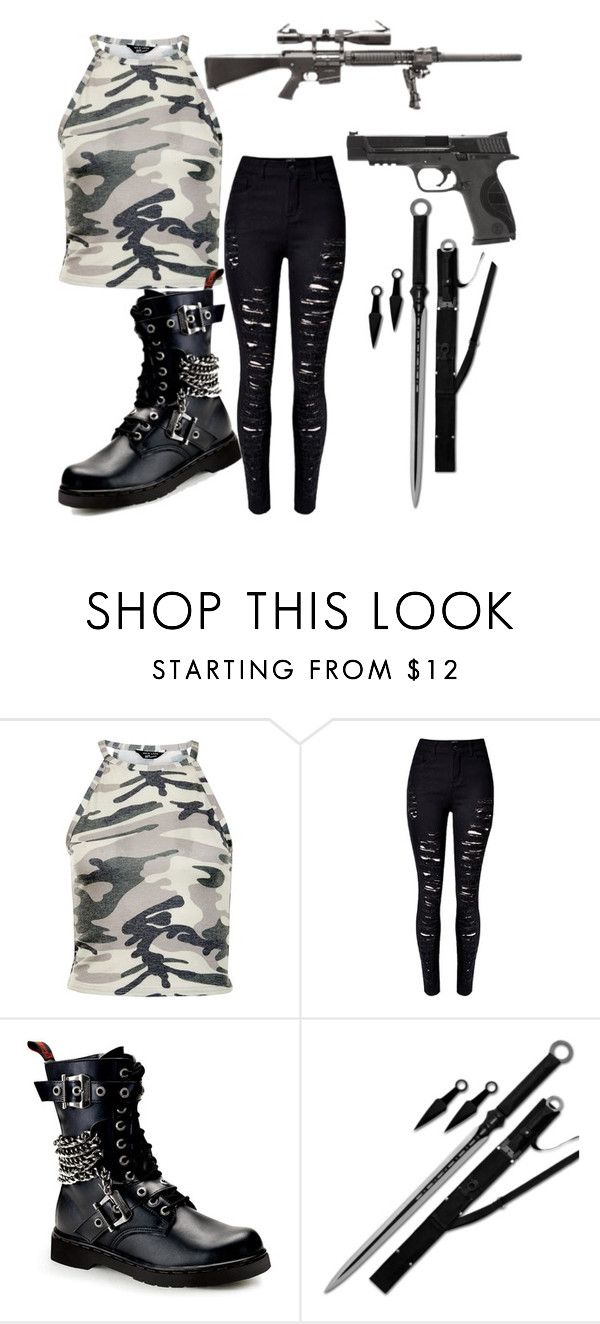 """""""zombie apocalypse outfit one"""" by danielledickey2003 on Polyvore featuring New Look, Smith & Wesson and RIFLE"""