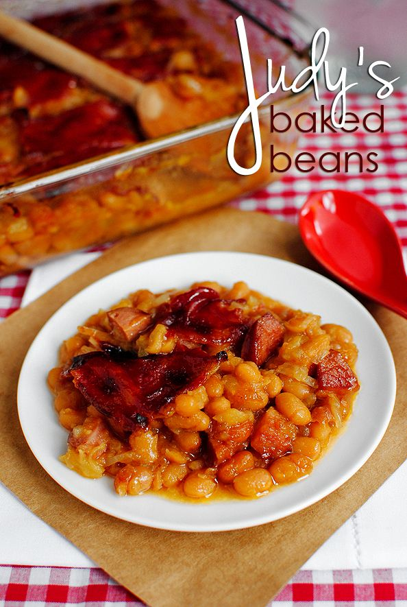 Judys Baked Beans. The best baked beans. EVER.: Judy S Baked, Judys Baked, Side Dishes, 4Th Of July, Family Recipe, Baked Beans