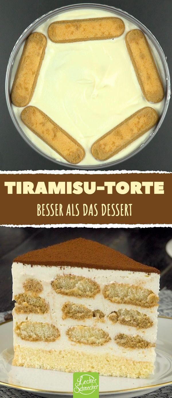 Tiramisu-Torte. Besser als das Dessert. #rezepte #kuchen #torte #tiramisu #löff…