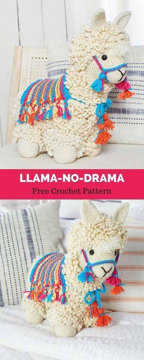 Llama-No-Drama [ Free Crochet Pattern | modelos | Pinterest ...