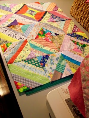 A project with the Grands! There is an easy tutorial for this on Missouri Star Quilt Company using a jellyroll. Amazing jellyroll quilt by 3 Dudes