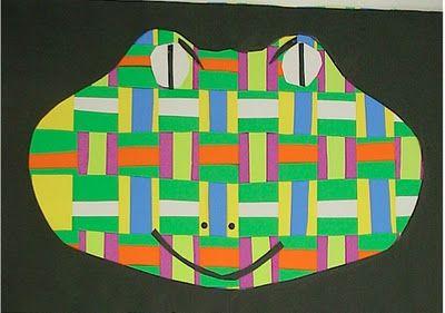 2nd grade art project  Animal Weavings