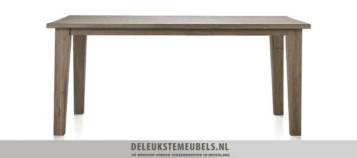 Deze Bandon eettafel 180cm is een plaatje. Hij heeft een natuurlijke uitstraling mede doordat het oppervlak handmatig is bewerkt. De poten lopen iets taps toe waardoor de tafel een speels effect krijgt. Snel leverbaar!  http://www.deleukstemeubels.nl/nl/bandon-eettafel-180cm/g6/p1157/