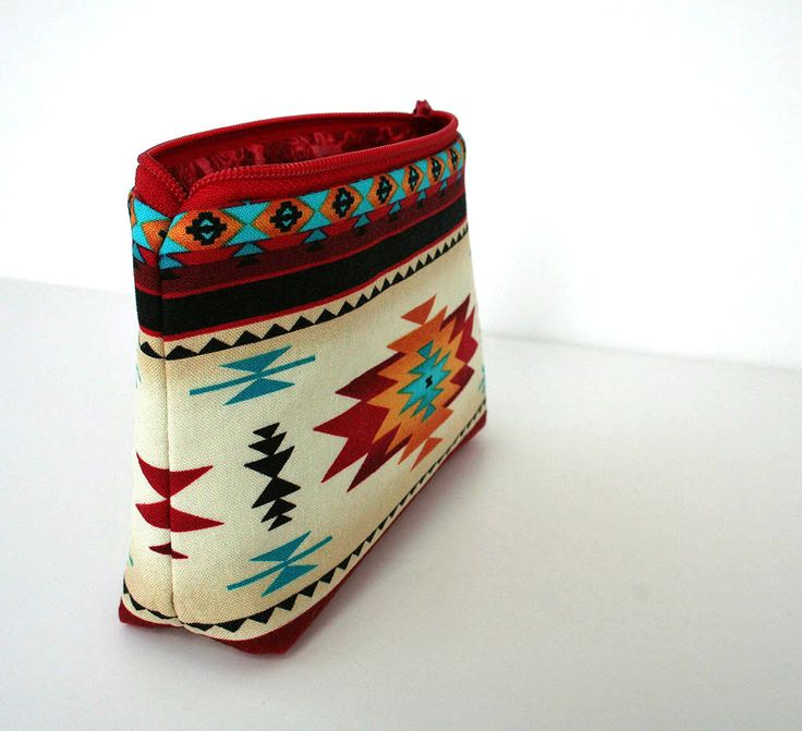 Small Makeup Bag - Southwestern - Navajo Fabric- Gadget Case. $10.00, via Etsy. #cricut