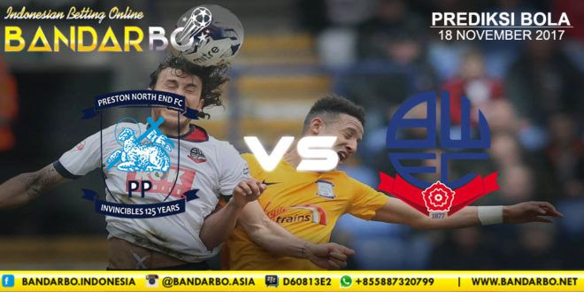 bandarbo.net Preston North End vs Bolton Wanderers 18 November 2017 link alternatif bandarbo.com