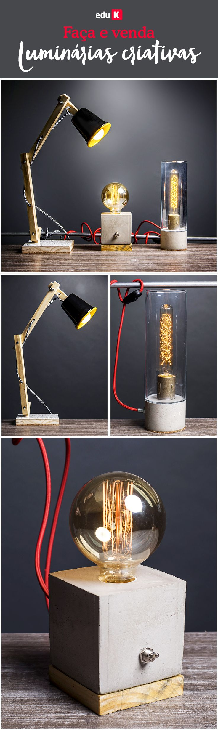 Aprenda com o expert Edu Gomes a confeccionar luminárias cheias de criatividade e transforme materiais diversos em lucro certo.