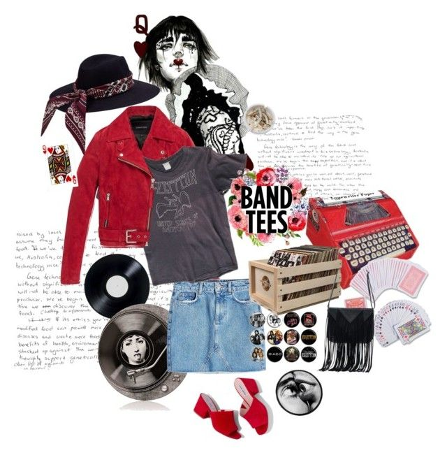 """""""Queen of hearts"""" by elizabeth-giess ❤ liked on Polyvore featuring 3.1 Phillip Lim, Chronicle Books, THE EDITOR, Andrew Marc, Fornasetti, Anine Bing, Seletti, Steve Madden, Crosley Radio & Furniture and Ash"""