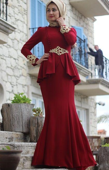 927270d951db0 En Şık Tesettür Balık Abiye Modelleri   Tesettür   Moda, Elbise ...