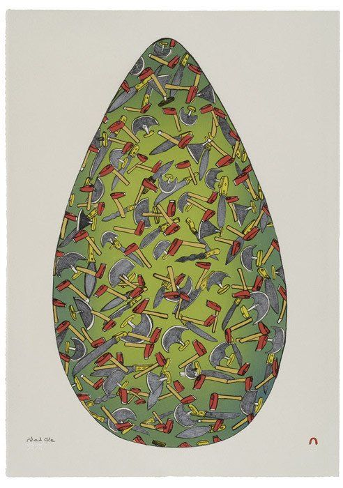 Egg. Shuvinai Ashoona. Cape Dorset Inuit Print