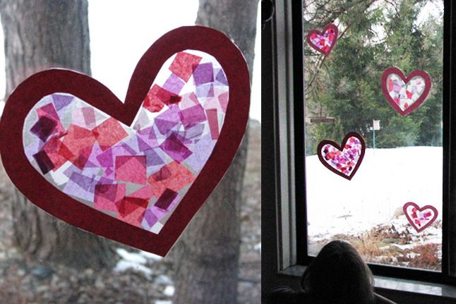 Perfect for Mother's Day or simply a sunny day craft, try these easy and customizable stained-glass art projects! We chose a heart for this tutorial, but you can use whichever shape and correspondi...