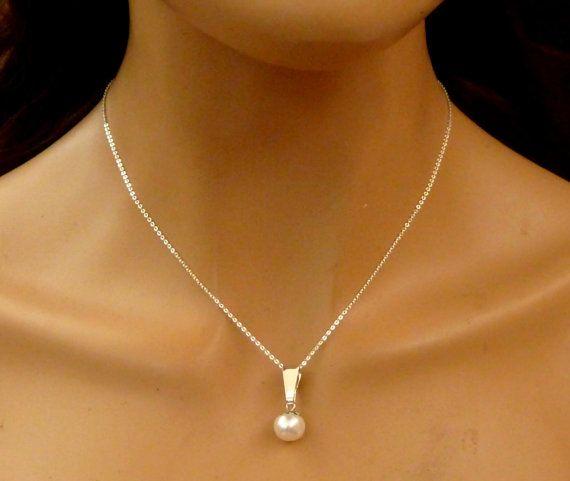 Halskette mit Süßwasser Zuchtperle 925 Sterling von Schmucktruhe