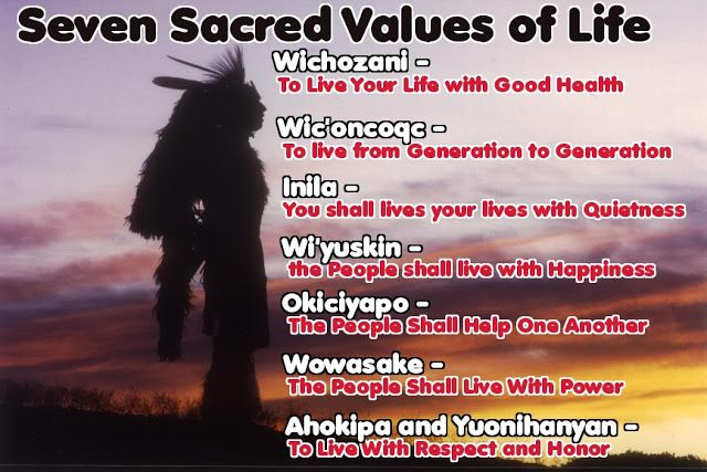 White Wolf: Seven Sacred Values of Life : Native American Commandments
