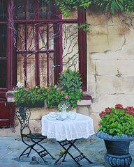 Ed Cabral Art - Cafe in Paris by Ed Cabral