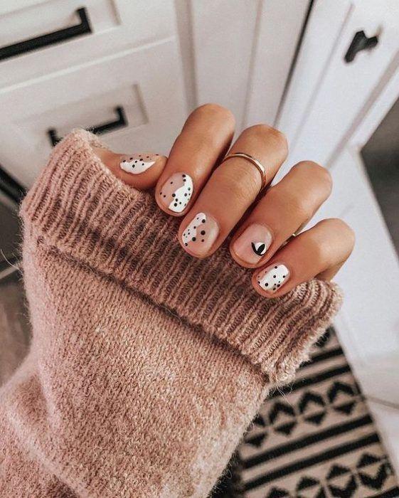 Nagellack Design, Nagellack Trends, Purple Nail, Ombre Nail, White Nails, Brown Nails, White Short Nails, Burgendy Nails, Magenta Nails