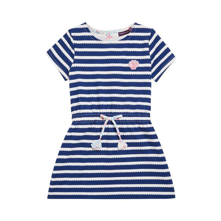 Sergent Major vous propose cette robe fille bleu pour les 2 à 11 ans du theme La legende des fonds marin de la collection Ete