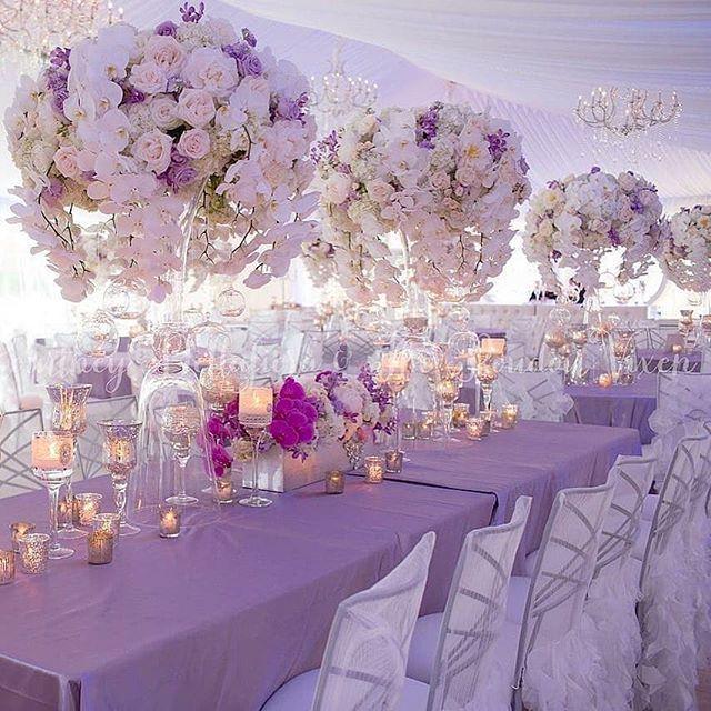 Toptenof2018 3 Pretty In Purple Design Winkdesignandevents Guest Seatin Lavender Wedding Decorations Wedding Floral Centerpieces Wedding Centerpieces
