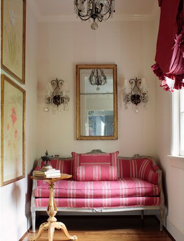 Mix and Chic: Cool designer alert- Suellen Gregory!  I need a pink settee