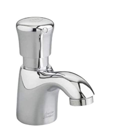 American Standard 1340M.107 Pillar Tap Single Hole Metering Faucet, Silver stainless steel