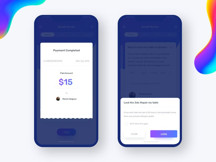 Pop - Payment confirmation, Make list by Johny vino™ - Dribbble