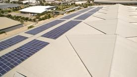 Lumax Energy equips ABB headquarters with Renusol mounting solution for solar microgrid installation